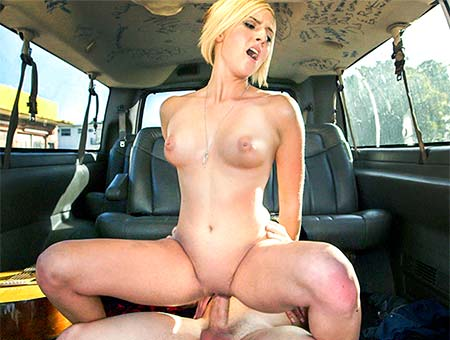 Blonde fucked on bus